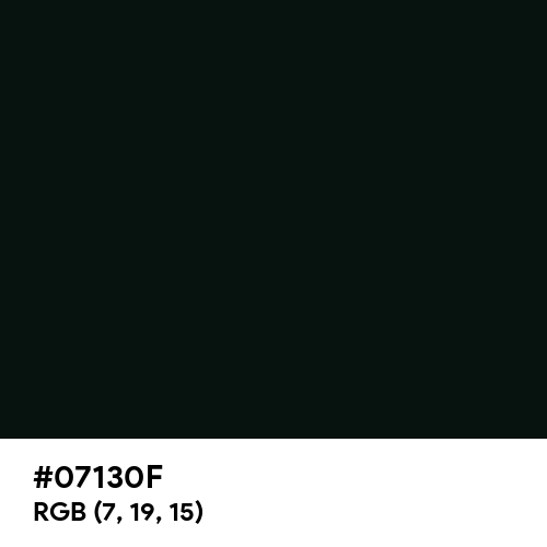 Rich Black (FOGRA29) (Hex code: 07130F) Thumbnail