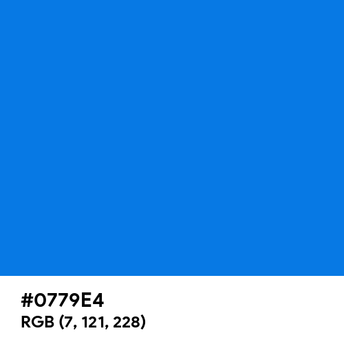 Blue Cola (Hex code: 0779E4) Thumbnail