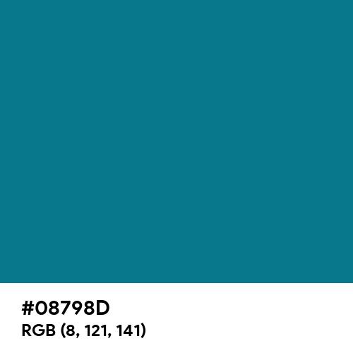 Metallic Seaweed (Hex code: 08798D) Thumbnail