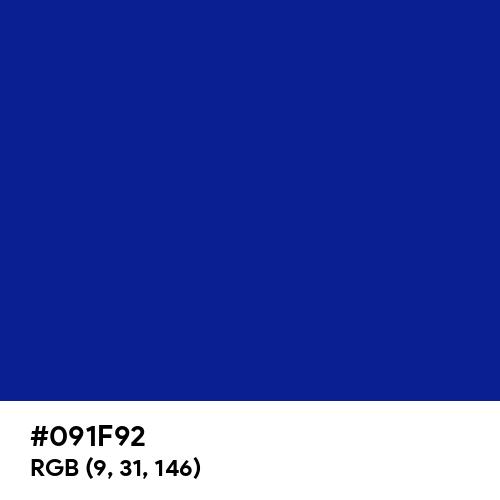 Indigo Dye (Hex code: 091F92) Thumbnail