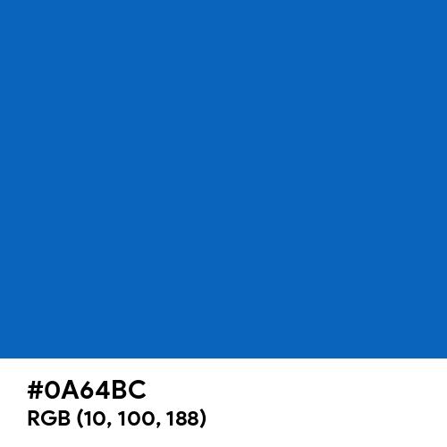 Trust Blue (Hex code: 0A64BC) Thumbnail