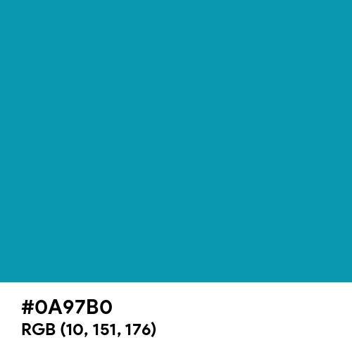 Blue-Green (Hex code: 0A97B0) Thumbnail