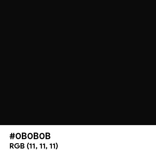 Vampire Black (Hex code: 0B0B0B) Thumbnail