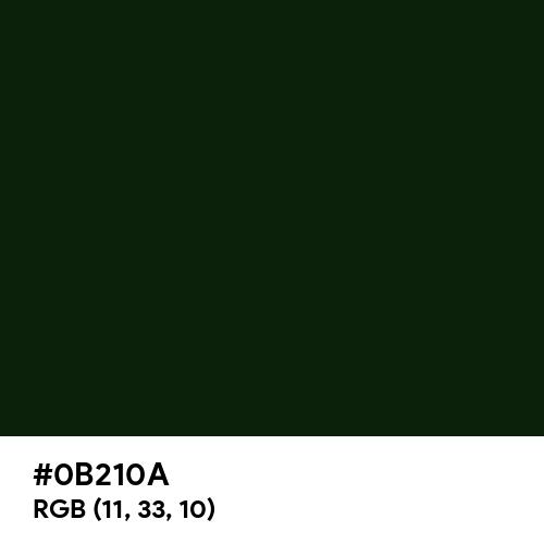 Chinese Black (Hex code: 0B210A) Thumbnail