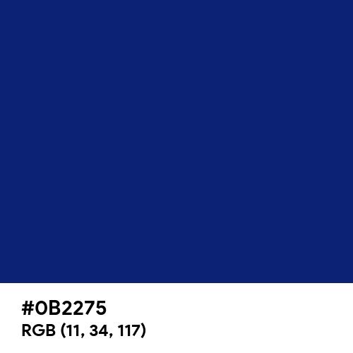 Rich Deep Blue (Hex code: 0B2275) Thumbnail