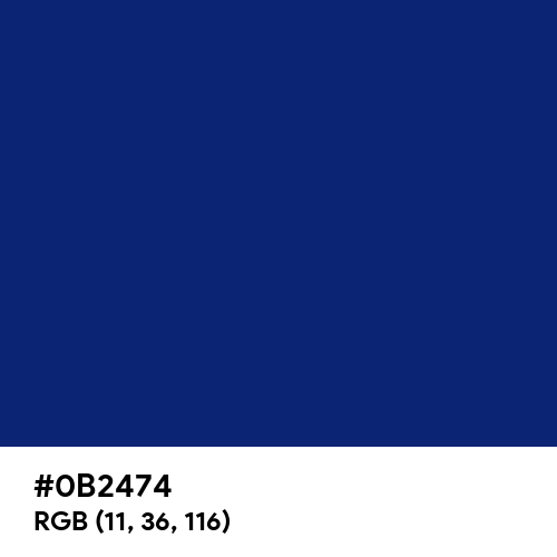 Catalina Blue (Hex code: 0B2474) Thumbnail