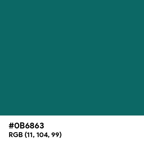 Butterfly Green (Hex code: 0B6863) Thumbnail