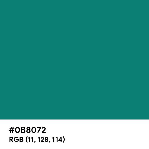 Pine Green (Hex code: 0B8072) Thumbnail