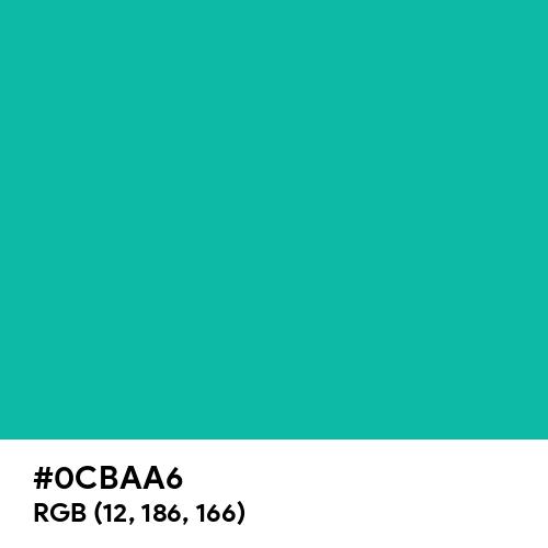 Blue-green (Hex code: 0CBAA6) Thumbnail