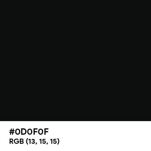 Smoky Black (Hex code: 0D0F0F) Thumbnail