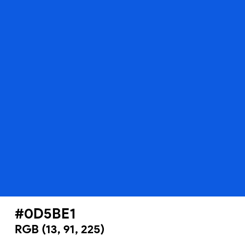 Glossy Blue (Hex code: 0D5BE1) Thumbnail