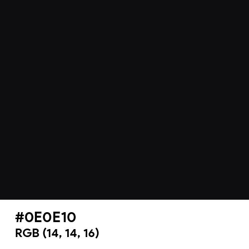 Jet Black (Hex code: 0E0E10) Thumbnail