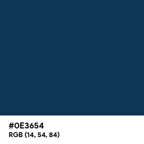 Prussian Blue (Hex code: 0E3654) Thumbnail