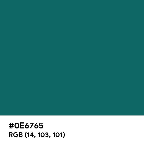 Tropical Rain Forest (Hex code: 0E6765) Thumbnail