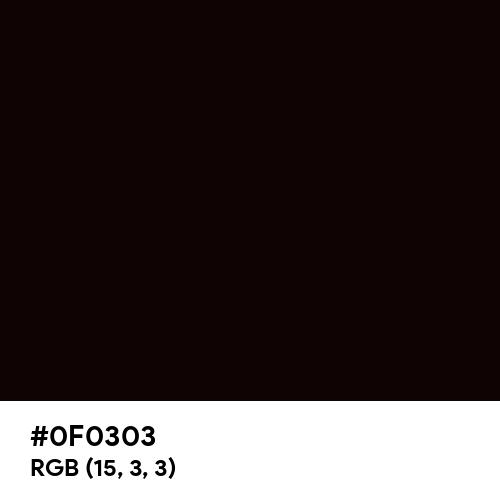 Vampire Black (Hex code: 0F0303) Thumbnail