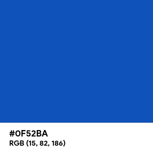 Sapphire (Hex code: 0F52BA) Thumbnail