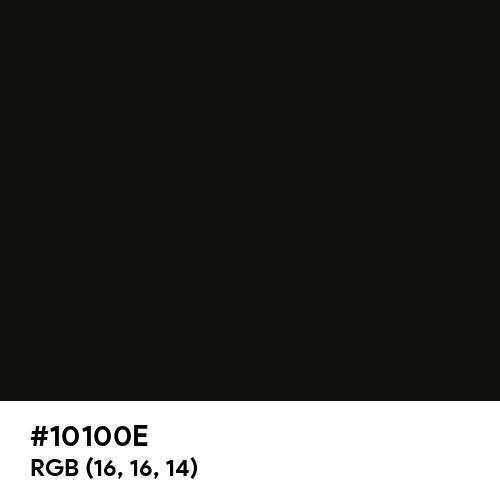 Smoky Black (Hex code: 10100E) Thumbnail