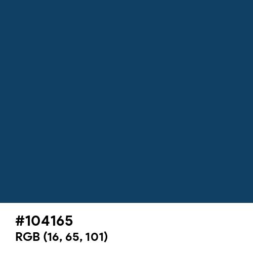 Ateneo Blue (Hex code: 104165) Thumbnail