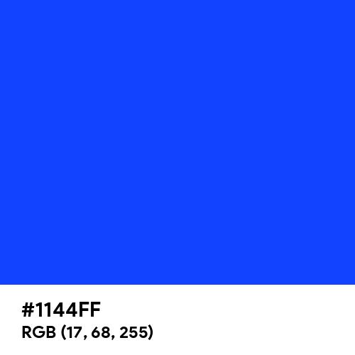 Blue (RYB) (Hex code: 1144FF) Thumbnail