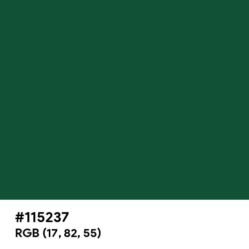 Classic Bottle Green (Hex code: 115237) Thumbnail