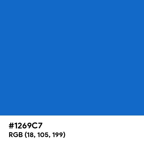 Greek Blue (Hex code: 1269C7) Thumbnail
