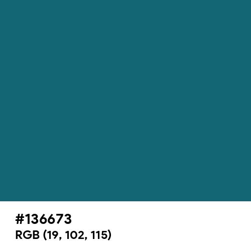 Blue Sapphire (Hex code: 136673) Thumbnail