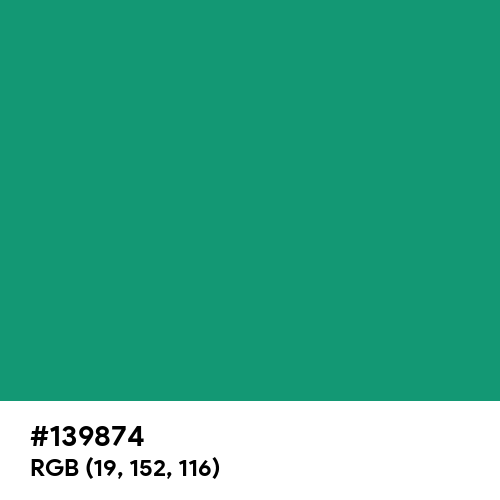 Dark Mint (Hex code: 139874) Thumbnail