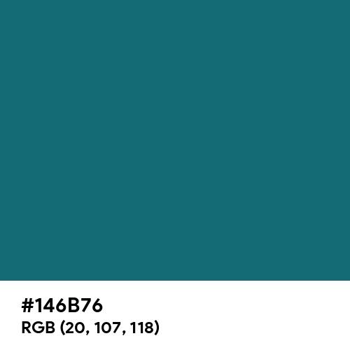 Blue Sapphire (Hex code: 146B76) Thumbnail