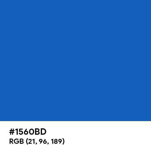 Denim (Hex code: 1560BD) Thumbnail
