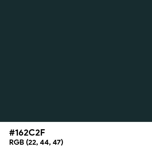 Medium Jungle Green (Hex code: 162C2F) Thumbnail