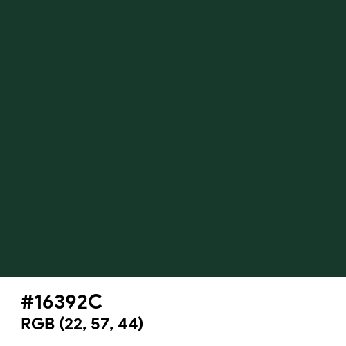 Medium Jungle Green (Hex code: 16392C) Thumbnail