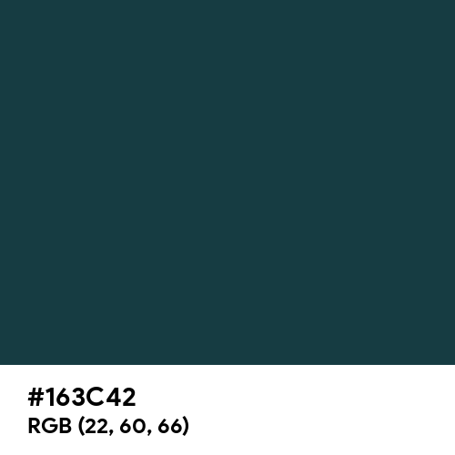 MSU Green (Hex code: 163C42) Thumbnail