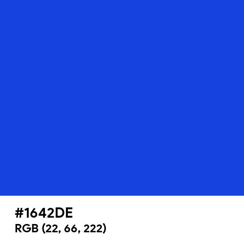 Spectrum Blue (Hex code: 1642DE) Thumbnail