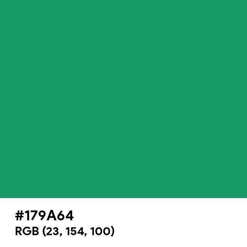 Irish Green (Hex code: 179A64) Thumbnail