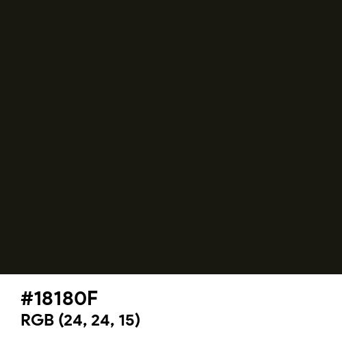 Black Chocolate (Hex code: 18180F) Thumbnail