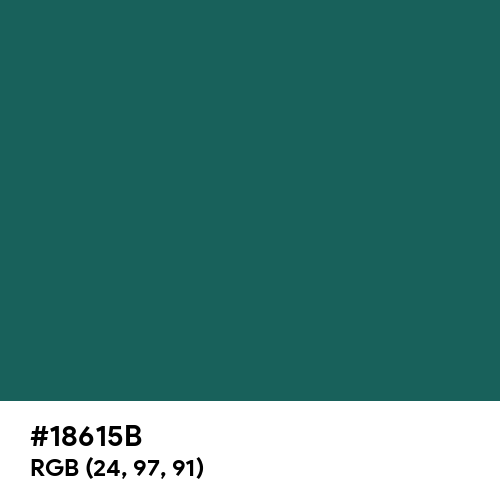 Dark Teal Green (Hex code: 18615B) Thumbnail
