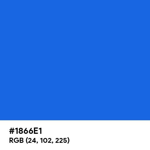 Royal Azure (Hex code: 1866E1) Thumbnail