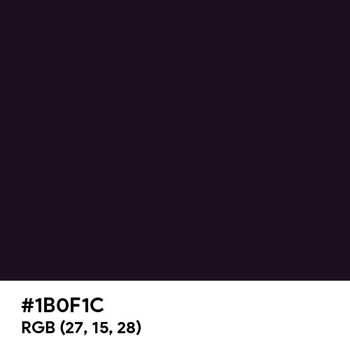 Chinese Black (Hex code: 1B0F1C) Thumbnail