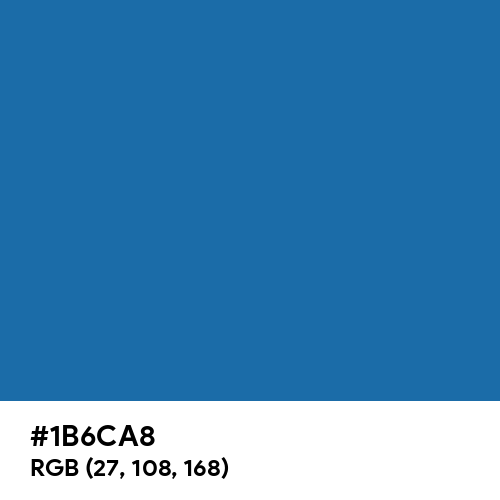 Green-Blue (Hex code: 1B6CA8) Thumbnail