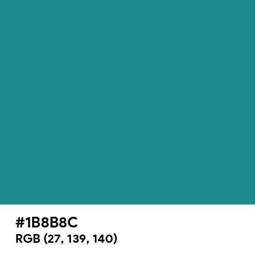 Turquoise Blue (RAL) (Hex code: 1B8B8C) Thumbnail