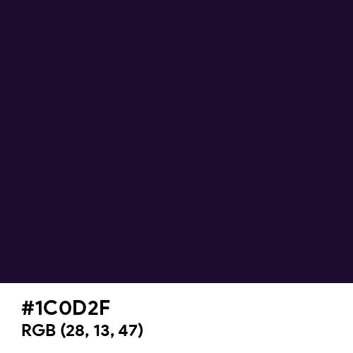 Dark Purple (Hex code: 1C0D2F) Thumbnail