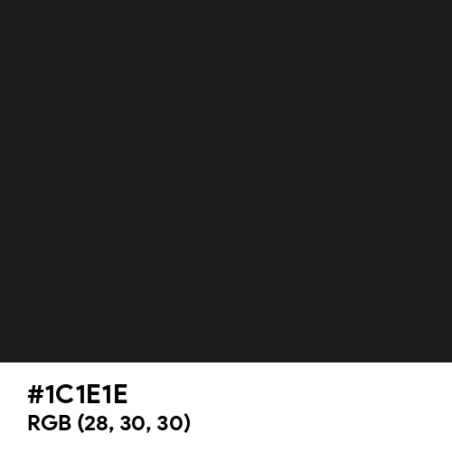 Raven Black (Hex code: 1C1E1E) Thumbnail