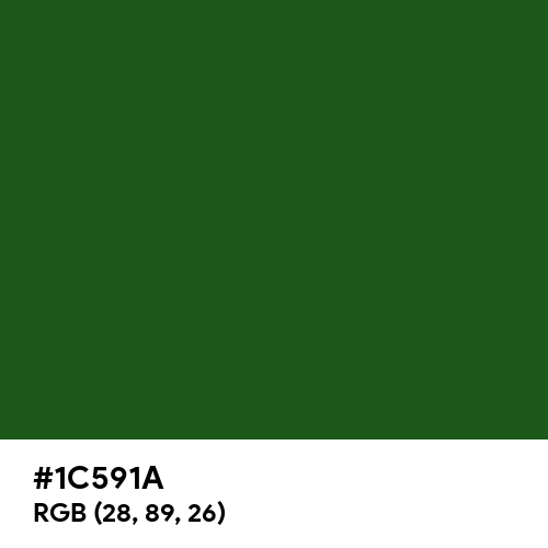 Cal Poly Pomona Green (Hex code: 1C591A) Thumbnail
