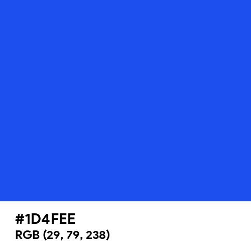 Palatinate Blue (Hex code: 1D4FEE) Thumbnail
