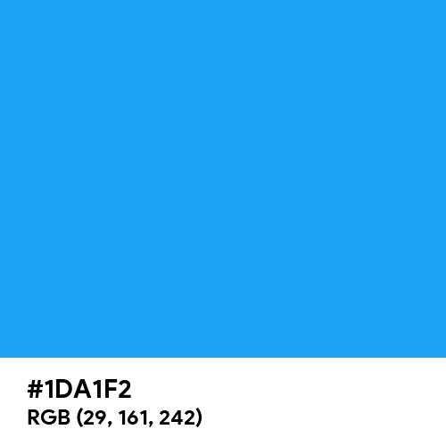 Twitter Blue (Hex code: 1DA1F2) Thumbnail