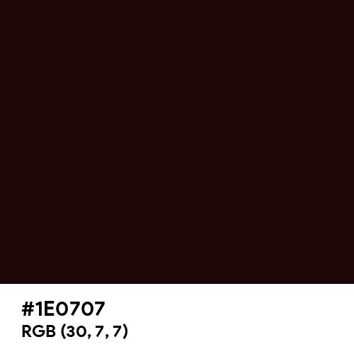Root Beer (Hex code: 1E0707) Thumbnail