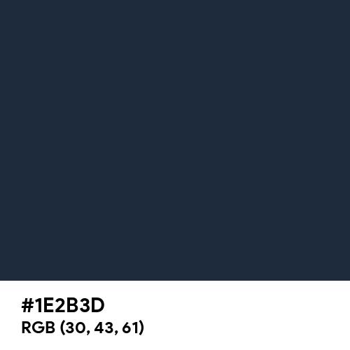 Steel Blue (RAL) (Hex code: 1E2B3D) Thumbnail