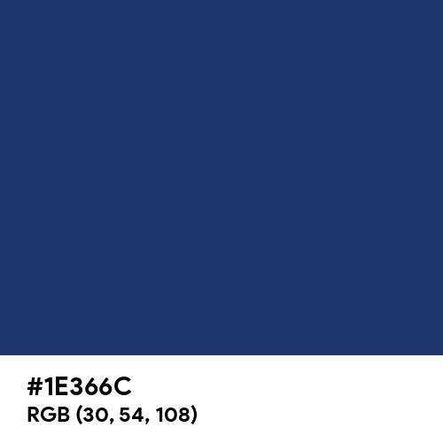 Indigo (Rainbow) (Hex code: 1E366C) Thumbnail