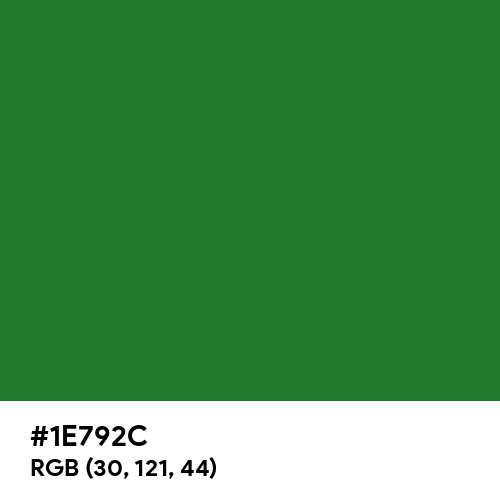 Christmas Green (Hex code: 1E792C) Thumbnail