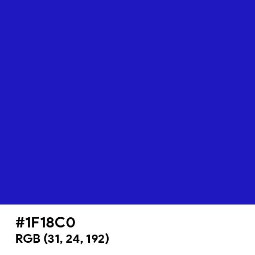 International Klein Blue (Hex code: 1F18C0) Thumbnail